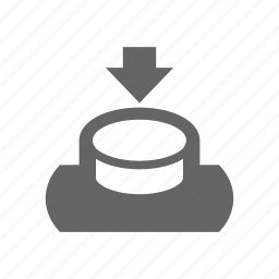 arrow, push icon