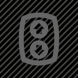 arrows, control, direction, elevator controls icon
