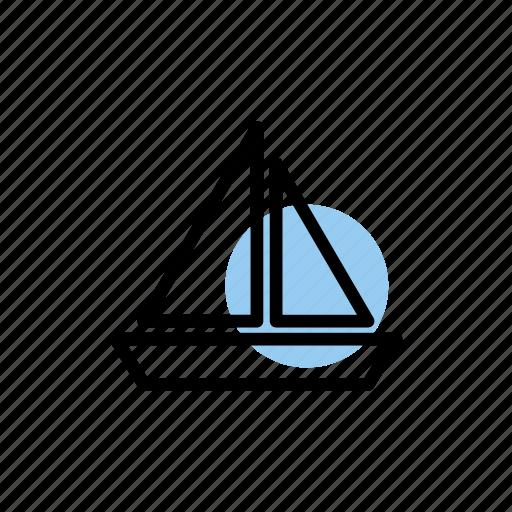 beach, holiday, sail, sailboat, sea, seaside, summer icon
