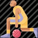 ball, basketball, between the legs, game, hoops, play, sport