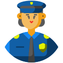 avatar, frontliner, police, policeman, woman icon