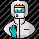 avatar, doctor, frontliner, hazmat, medical staff, nurse icon