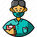 avatar, frontliner, male, medical staff, nurse icon