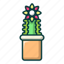 abstract, cactus, cartoon, floral, lophophora, tattoo, tribal icon
