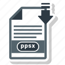 document, file, format, ppsx icon