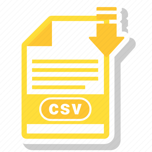 csv, document, file, file format icon