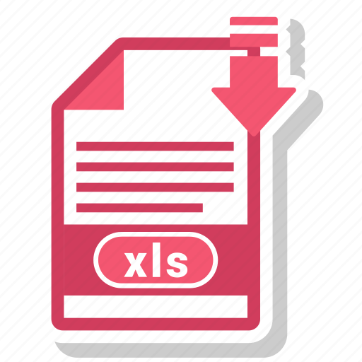 document, file, file format, xls icon