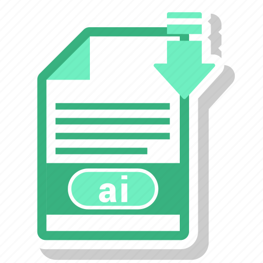 ai file, document, file, file format icon