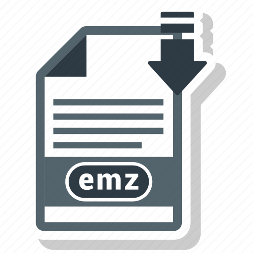 document, emz, file, file format icon