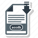 accdb, document, file, file format icon