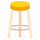 bar, chair, furniture, interior, stool icon
