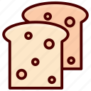 bakery, bread, breakfast, food, loaf, slice