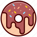 bakery, cooking, dessert, donut, food, restaurant icon