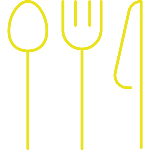 cafe, dinner, fork, knife, spoon icon