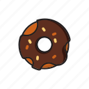 cafe, donut, chocolate, coffee, dessert, sweet