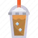 beverage, cafe, coffee, cold, cup, drink, plastic icon