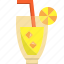 beverage, drink, fresh, glass, iced, lemon, summer icon