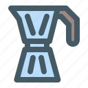 cafe, coffee, drink, moka, pot icon