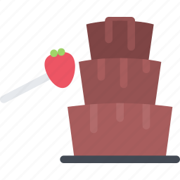 cafe, candy, chocolate, confectionery, fountain, sweets icon