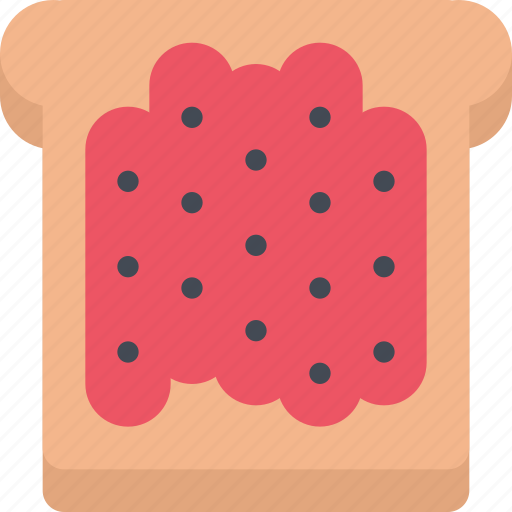 cafe, candy, confectionery, jam, sweets, toast icon