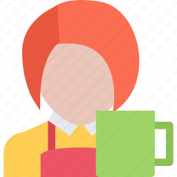 cafe, candy, confectionery, sweets, waiter icon
