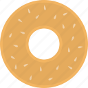 bagel, baked, bakery, bread, food, wheat icon