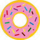 cream, dessert, donut, pastry, snack, sugar, sweet icon