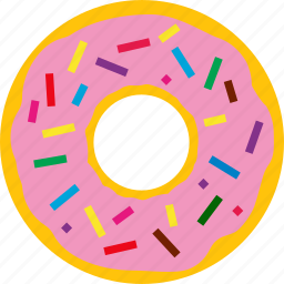cream, dessert, donut, pastry, snack, sugar, sweet icon