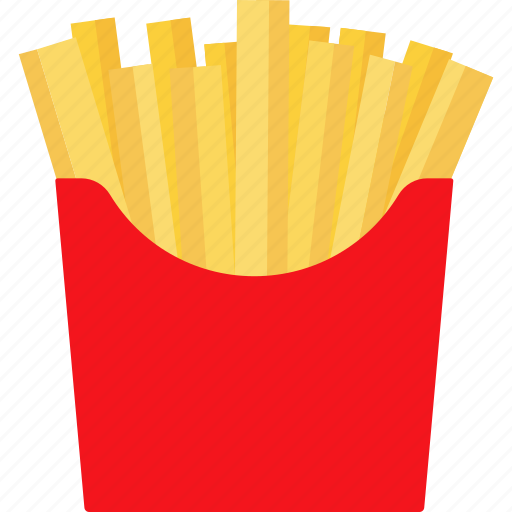 chips, fast, finger, french, fries, potato, snack icon