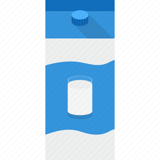 beverage, drink, glass, milk, natural, pack, packaging icon