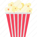 box, cinema, corn, fast, food, movie, popcorn icon