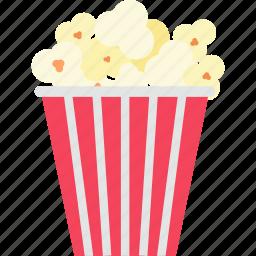 box, cinema, corn, fast, food, movie, popcorn icon