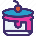 cake, sweet, healthy, dessert, fruit, food icon