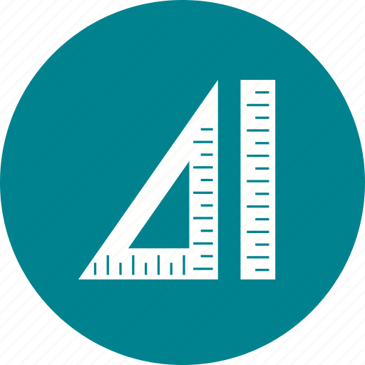 geometry, maths, protractor, ruler, school, set, square icon