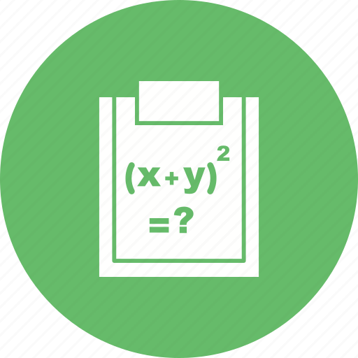 complex, education, formula, mathematics, number, problem, science icon