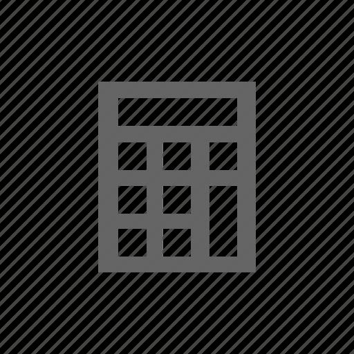calculate, calculator icon