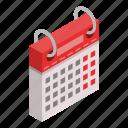 business, calendar, cartoon, date, day, isometric, week