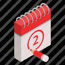 business, calendar, cartoon, date, day, event, isometric