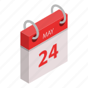 appointment, calendar, cartoon, holiday, isometric, may, vab51