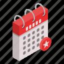 calendar, cartoon, david, day, isometric, magen, star