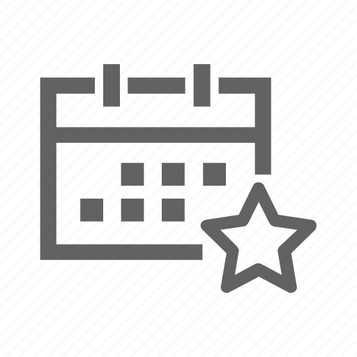 calendar, favorite, important, like, love, star, tag icon