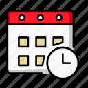 alarm, appointment, calendar, clock, date, month, schedule