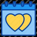 calendar, date, day, event, heart, love, valentine