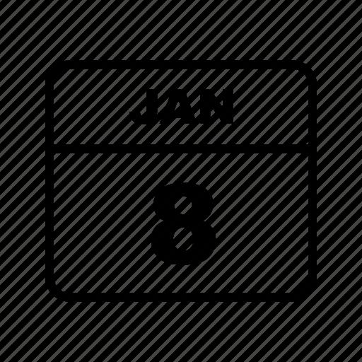 calendar, january, schedule icon