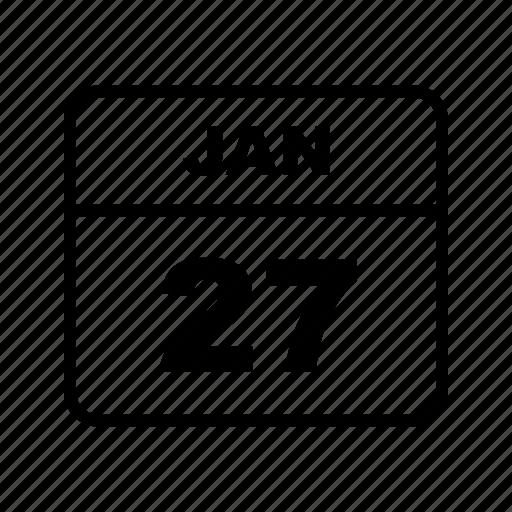 calendar, jan, schedule icon