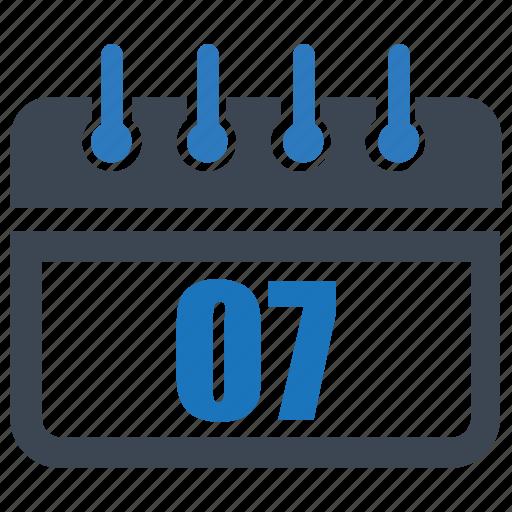 calendar, date, day, month, reminder, schedule, seven icon