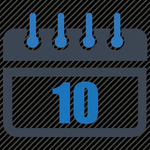 calender, date, day, month, reminder, schedule, ten icon