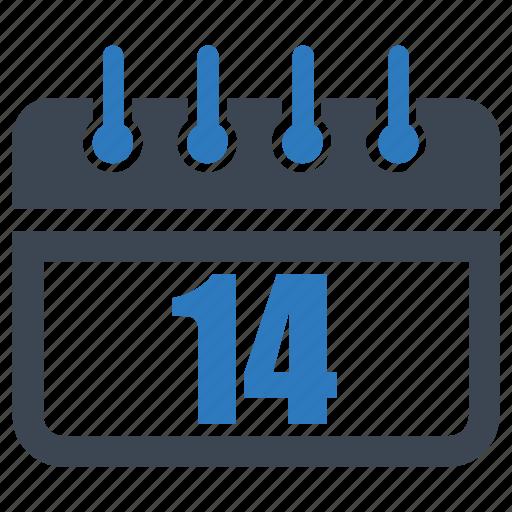 calendar, date, day, fourteen, reminder, schedule icon