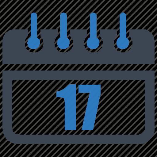 calendar, date, reminder, schedule, seventeen icon