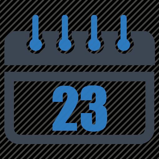 calendar, date, reminder, schedule, twenty three icon